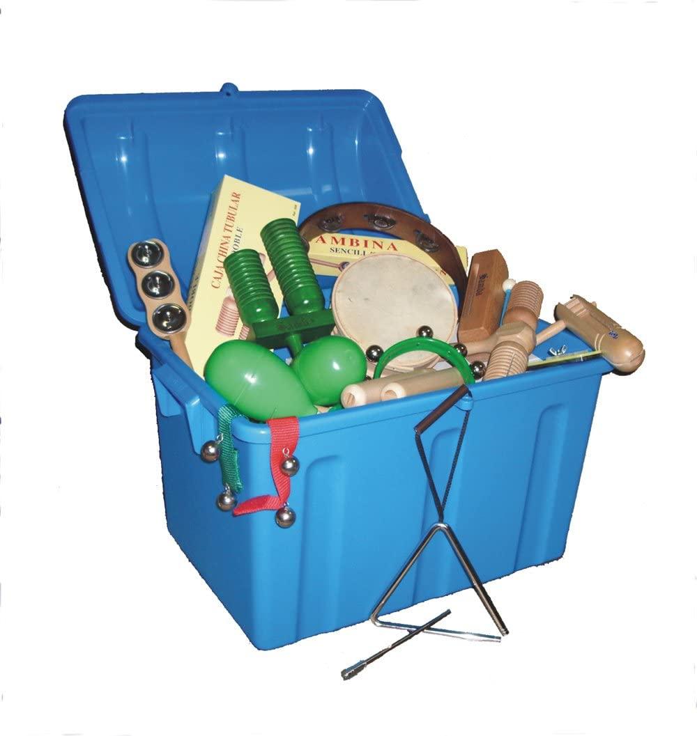Kit Pequeña Percusion Lote 28 instrumentos (baúl incluido)