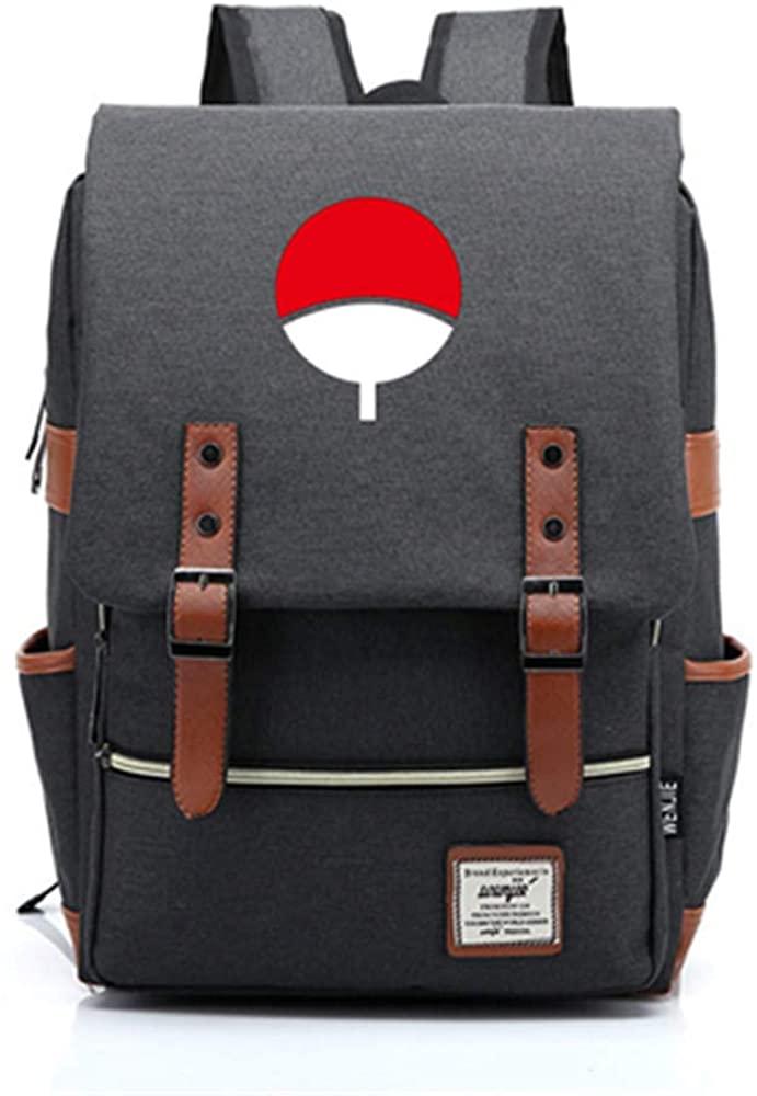 MOYOOE New Janpanese Anime Naruto Sharingan Uchiha Itachi Sasuke Backpack Cosplay Laptop Bag Mochila 1