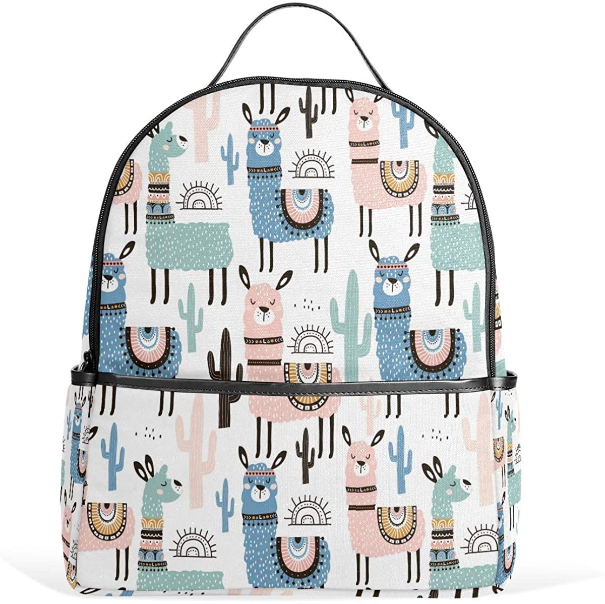 Toprint Backpack School Travel Bag Watercolor Casual Daypack Student Bookbag