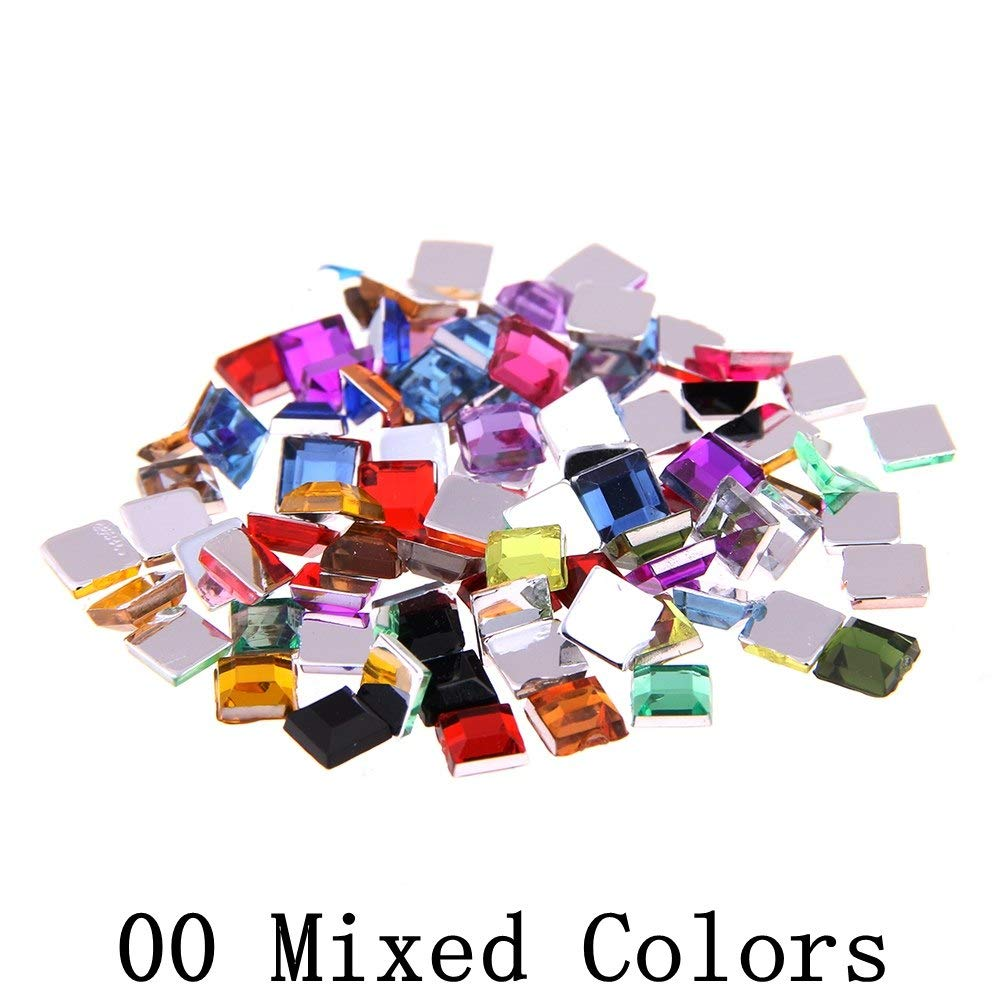 Nail Rhinestones Square Mixed sizes 4g About 180pcs For Crafts Scrapbooking DIY Clothes Nail Art Decoration