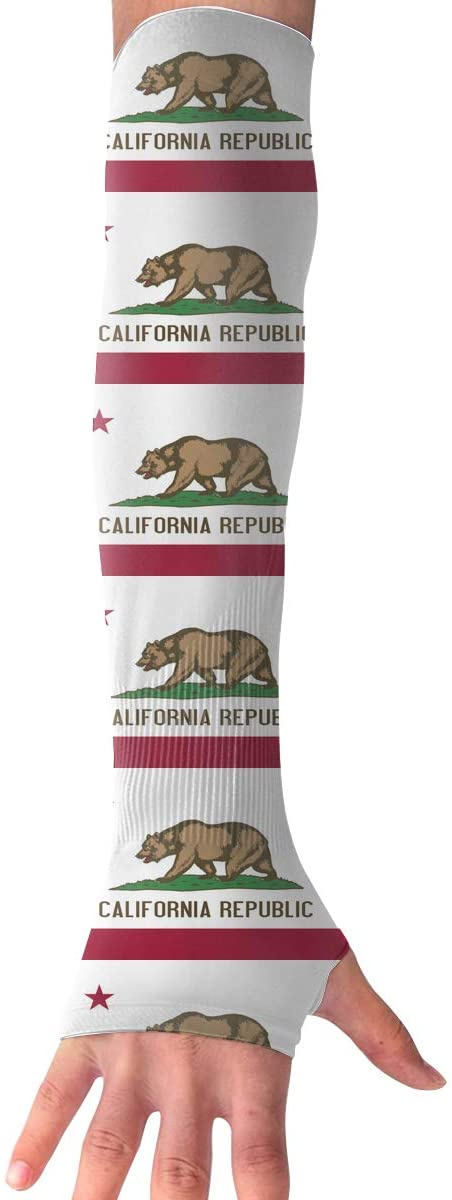 TO-JP Sports Arm Sleeves UV Sun Protection Arm Sleeves California State Flag Cooling Arm