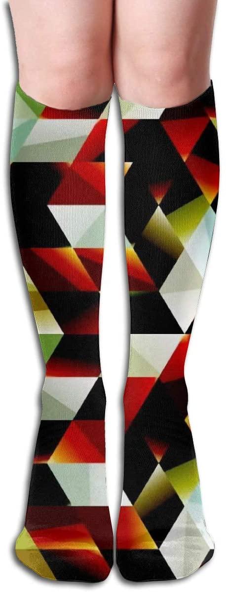 Space Stereo Pattern,Design Elastic Blend Long Socks Compression Knee High Socks (50cm) for Sports