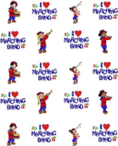 40 Music Marching Band Nail Art Decal