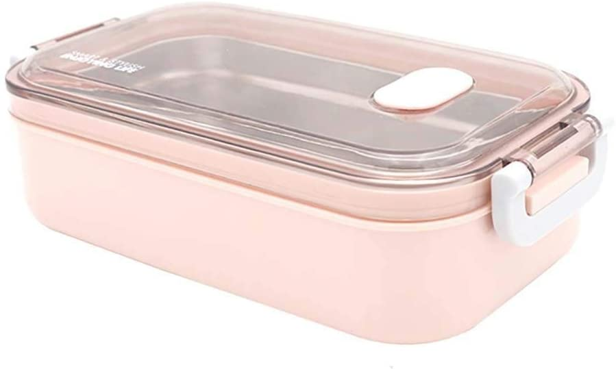 304 stainless steel insulated lunch box lunch box fresh-keeping box student adult portable car office single-layer lunch box