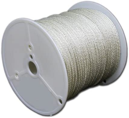T.W Evans Cordage 47-121 3/8-Inch by 1000-Feet Solid Braid Polyester Rope