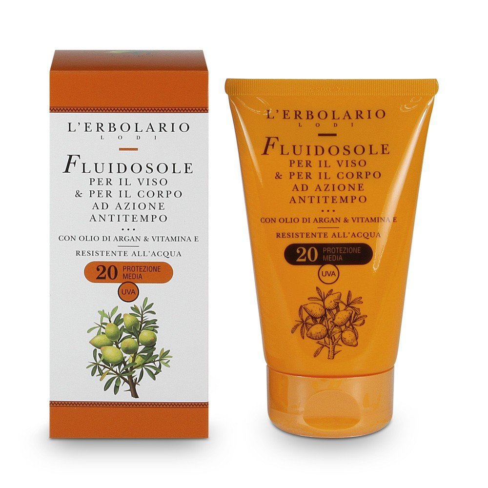 LErbolario Sun Fluid for Face and Body with SPF 20