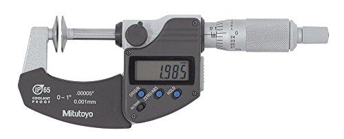 Mitutoyo 323-350-30 GMA-1MX Disc Micrometer, IP65, 0-1, 0.00005/0.001 mm