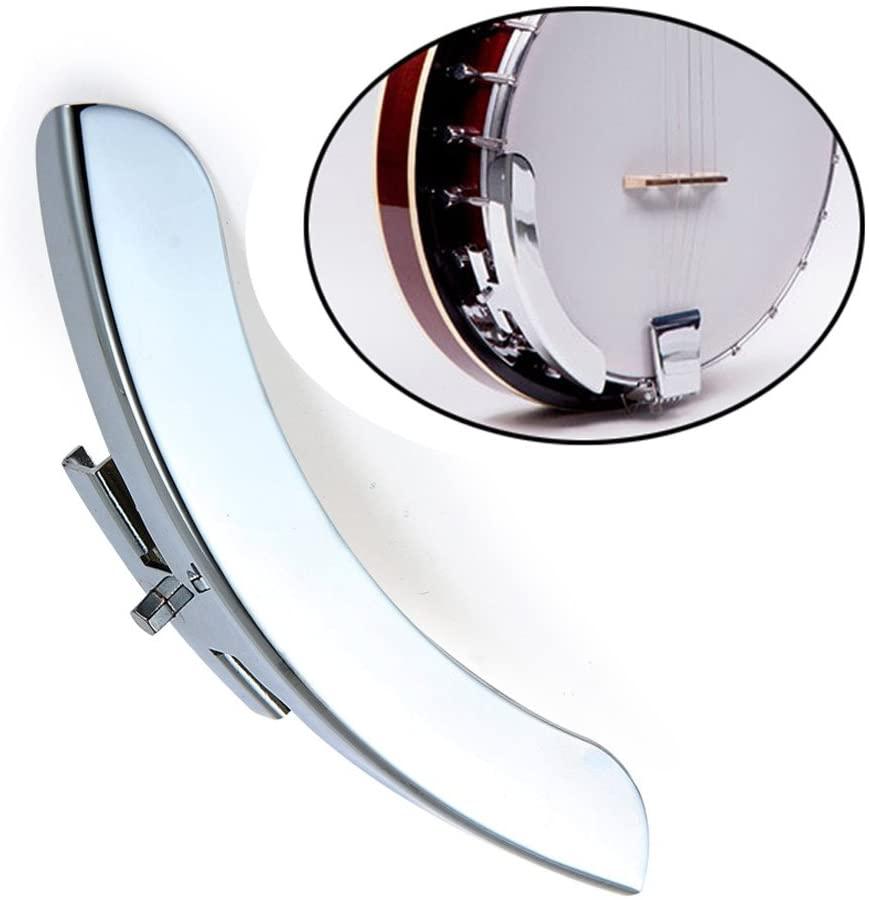 XuBa Silver Tone Single Leg Banjo Armrest Banjos Replacement Parts