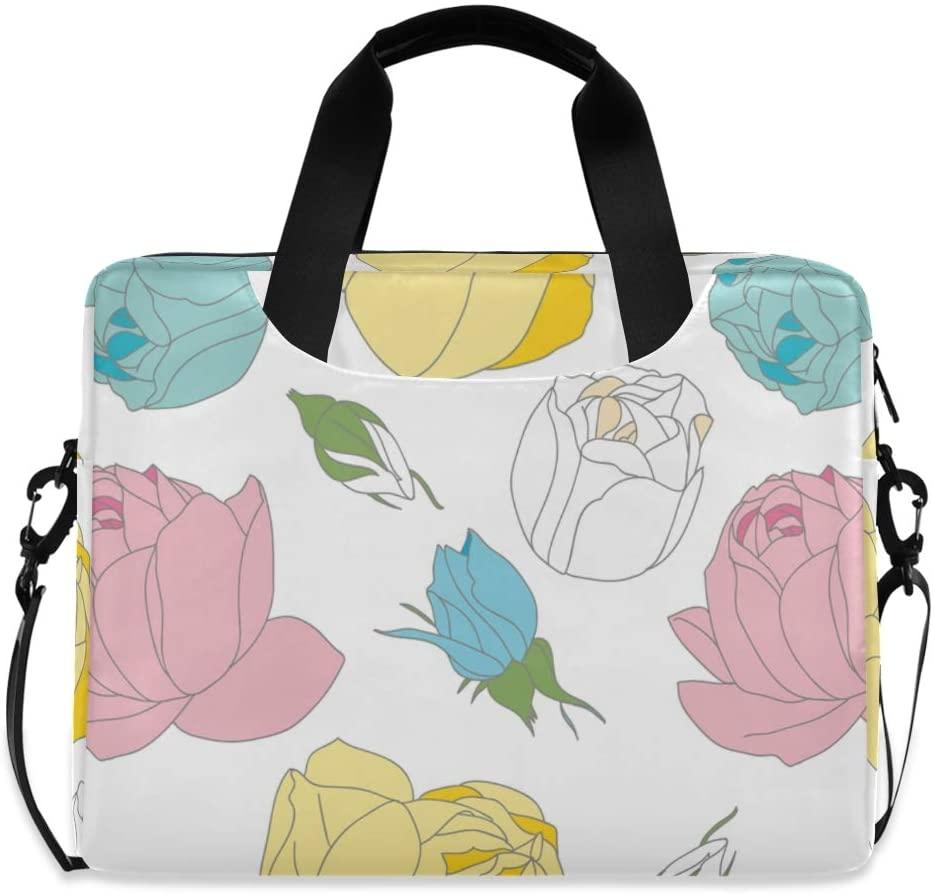 Laptop Bag, Stylish Rose Seamless Laptop Briefcase Bag, 16 Inch Slim Laptop Backpack Laptop Case