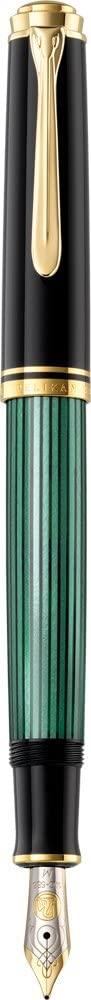Pelikan Premium M600EF Fountain Pen Colour Plume Black/Greem
