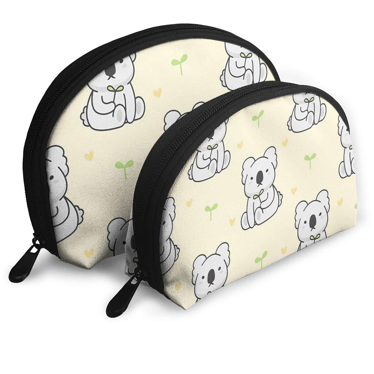 Half Moon Cosmetic Beauty Bag,Cute Koala Handy Cosmetic Pouch Clutch Makeup Bag For Women Girls