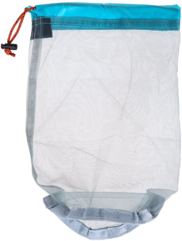 Awakingdemi Ultralight Drawstring Mesh Stuff Sack Storage Bag for Tavelling Camping Hike Climbing Outdoor Laundry Cloth Pouch