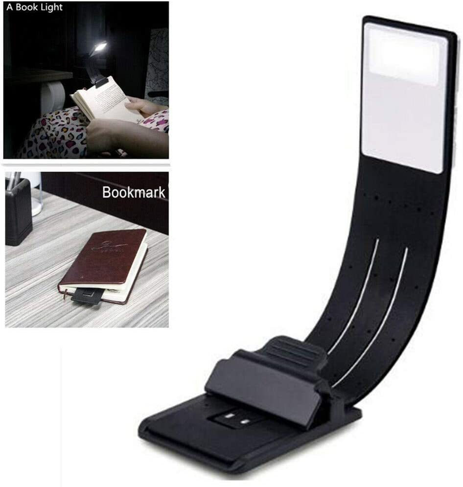 USB Rechargeable LED Book Light Flexible Clip On Night Reading Lamp