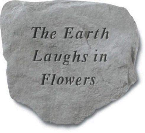 The Earth Laughs In Flowers Decorative Garden Stone