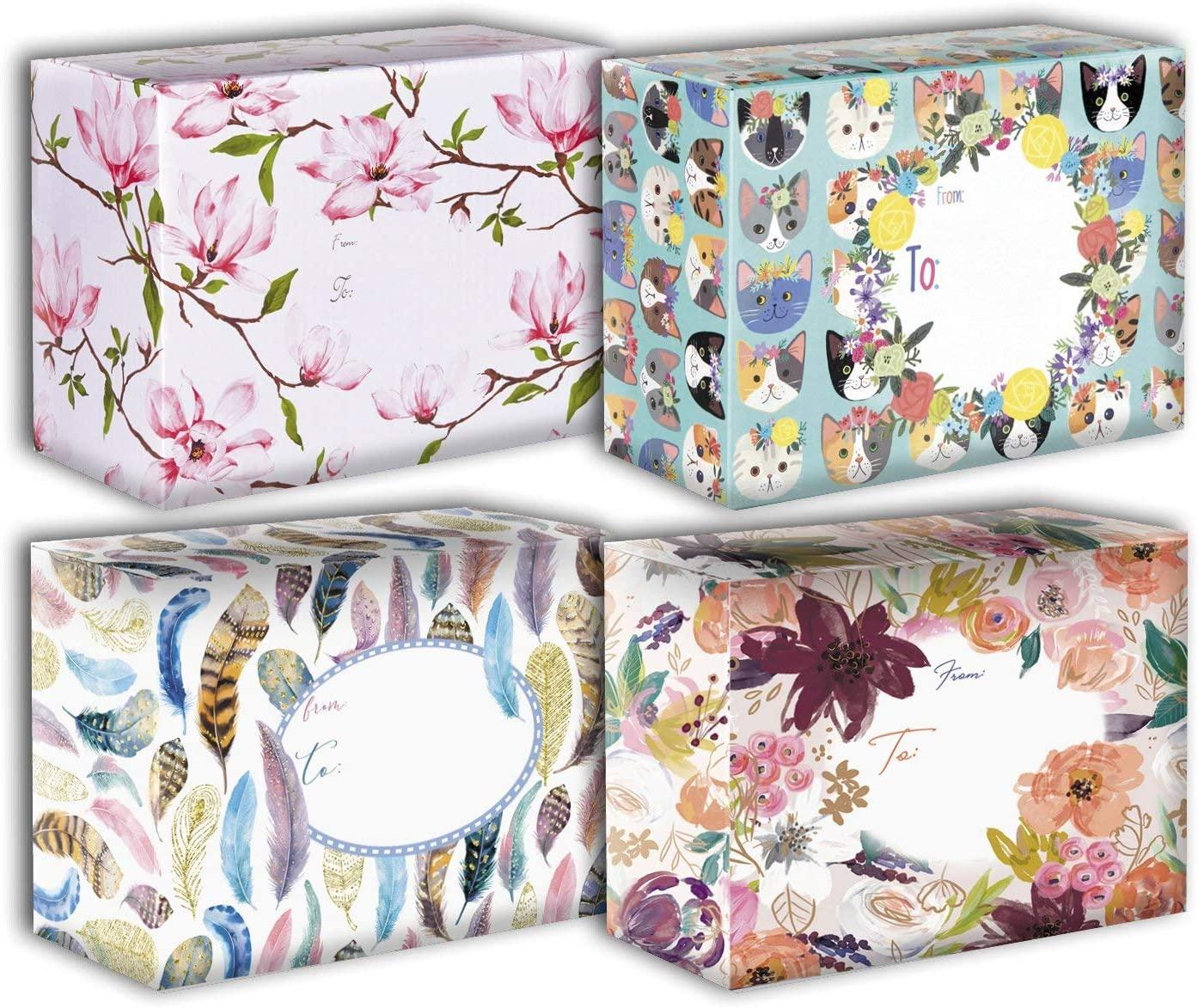 Design Mailing Box Assortment, Floral (4 Pieces)