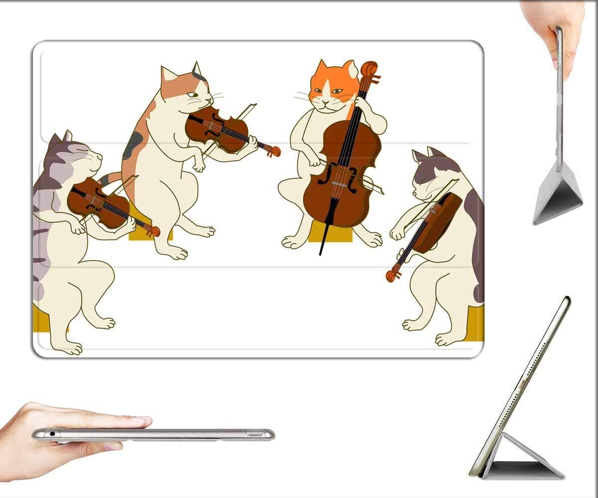 Case for iPad 10.2-inch 2019 (7th Generation) - Quartet Cat Violin Cello Viola Stage Music