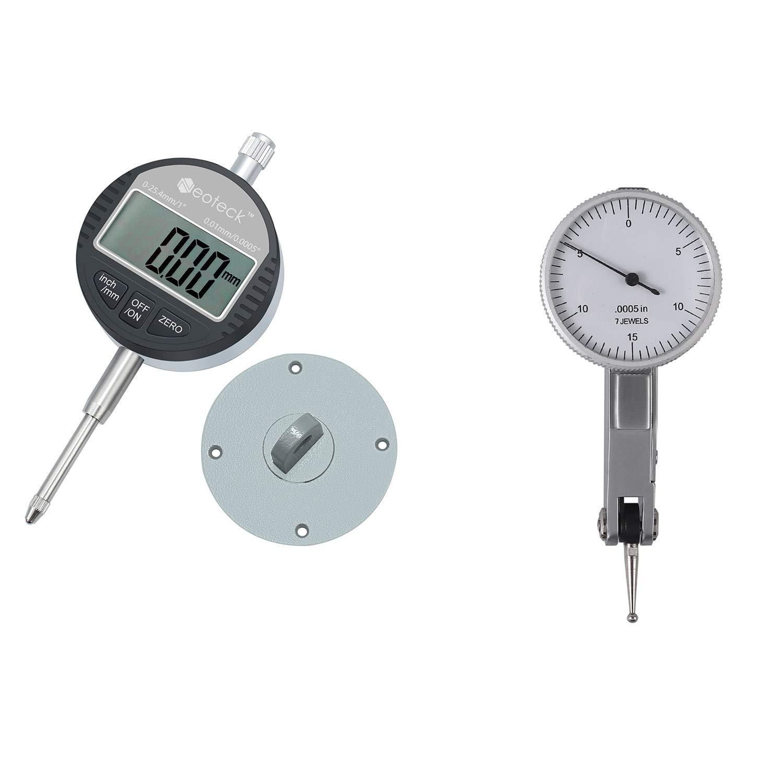 Neoteck Digital Dial Indicator + Dial Test Indicator 0-0.03