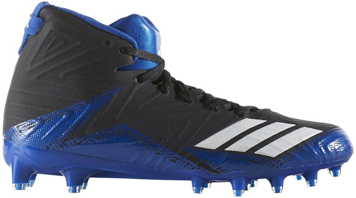 adidas Men's Freak x Carbon mid Football Shoe, Black/White/Collegiate Royal, 11.5 Medium US
