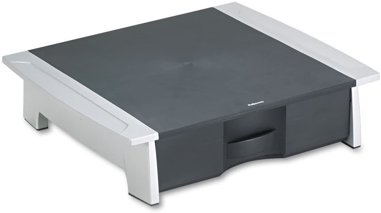Fellowes Black And Silver Printer Stand