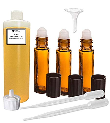 Grand Parfums Perfume Oil Set- Our IMPRESSION of Eros for Men - 100% Pure Uncut Perfume Body Oil Set With Roller Bottles and Tools to Fill the Bottles
