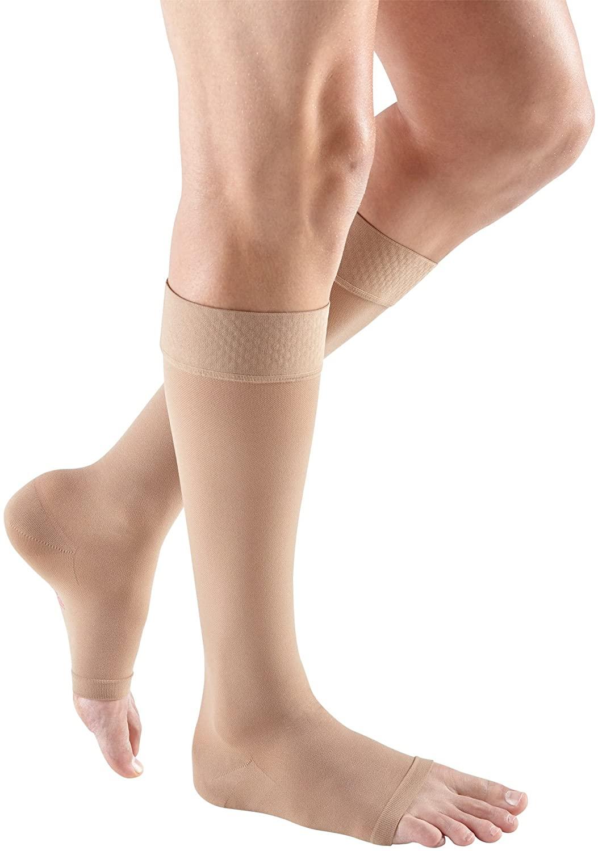 mediven plus, 30-40 mmHg, Calf High w/Silicone Topband, Open Toe