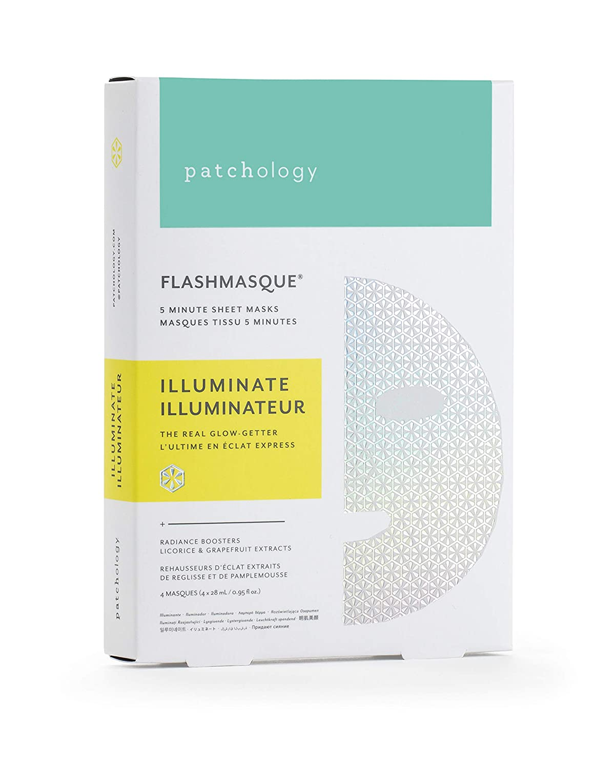 Patchology Illuminate FlashMasque Sheet Mask to Brighten and Even Skin Tone