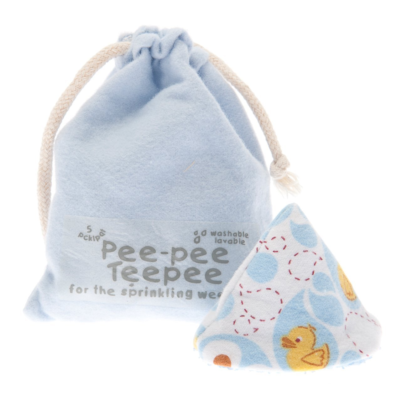 Pee-Pee Teepee Rubber Ducky Blue - Laundry Bag