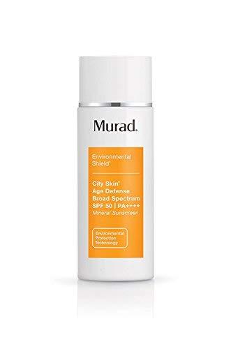 Murad Environmental Shield City Skin Age Defense Broad Spectrum SPF 50-100% Mineral Sunscreen - Blue Light Defense - SPF 50 Environmental Defense Sunscreen - Light Sunscreen for Face, 1.7 Fl Oz