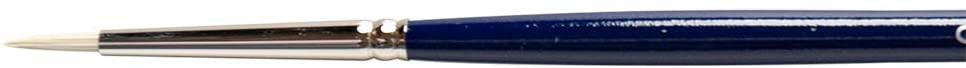 Silver Brush 1900-0 Bristlon Stiff Synthetic Long Handle Filament Brush, Round, Size 0