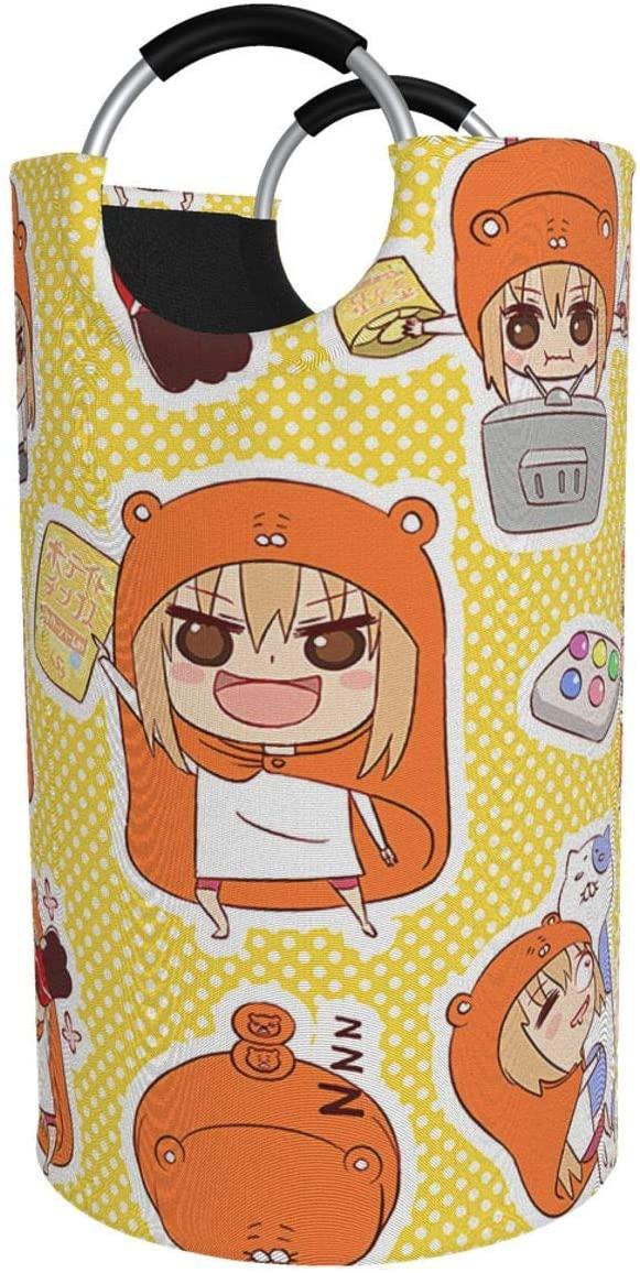 Chenjiaj Himouto! Umaru-Chan Anime Cartoon 82lcollapsible Fabrichamper Tall Foldable Dirty Laundry Bag Handles Waterproof Portable Washing Bathroom Large Laundry Basket