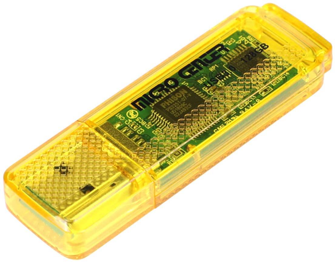 Micro Center SuperSpeed 128GB USB 3.0 Flash Drive Gum Size Memory Stick Thumb Drive Data Storage Jump Drive (128G)