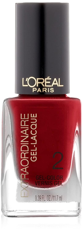 L'Oreal Paris Extraordinaire Gel-Lacque 1-2-3 Nail Color, Hot Couture, 0.39 Fluid Ounce