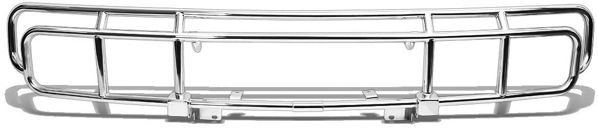 DNA Motoring 4X4-T125-CH Front Bumper Bull Bar Grille [for 03-09 Hummer H2],Chrome