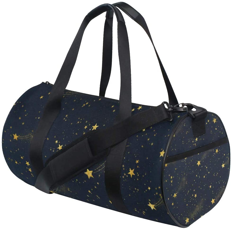 Brighter Starry Night Fitness Sports Bags Gym Bag Travel Duffel Bag for Mens and Womens