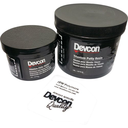 Devcon 10760 Gray Titanium Putty, 1 lb. Can
