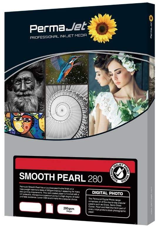 Permajet APJ50705 Smooth Pearl Photo Paper 100 7X5