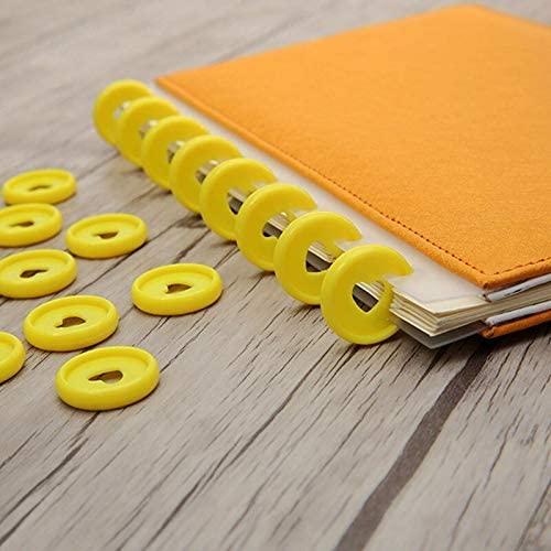 Clips 30/50/100 Pcs Heart Binder Rings for Notebooks 24mm Solid DIY Happy Planner Disc Loose Leaf Mushroom Binder for Scrapbooking - (Color: 100Pcs-24mm)