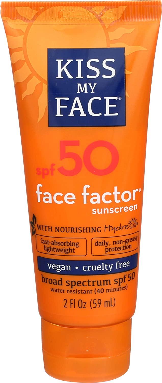 Kiss My Face Face Factor Face + Neck Sunscreen SPF 50 2 OZ