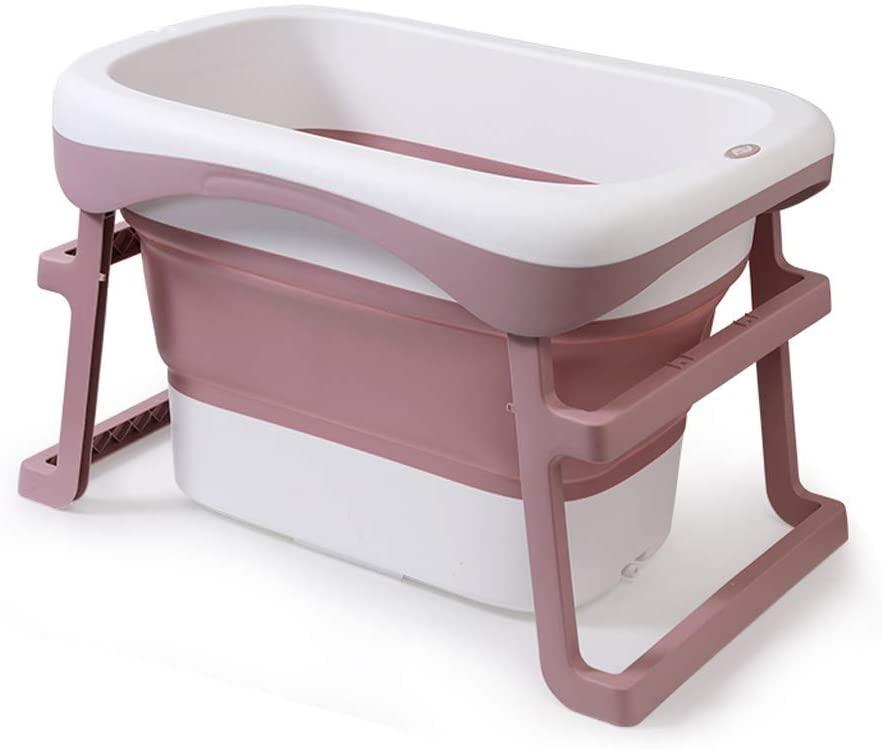 Baby Bath Tub,Foldable Portable Bathtub Baby Home,Plastic Bath Barrel Newborn Child Newborns Large Thickening,(Color:Blue,Size:88 X61.5X56.5Cm)