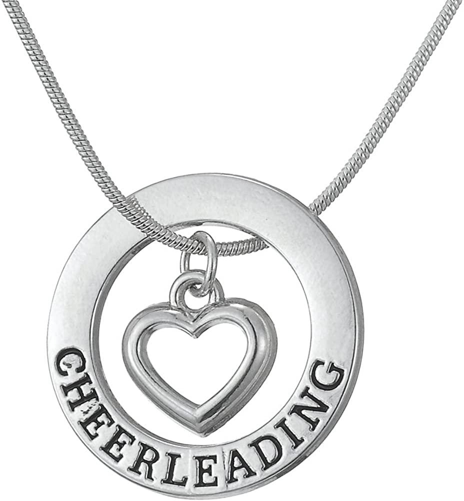 TEAMER Love Cheerleading Pendant Cheer Cheerleader Necklace Gifts Jewelry for Girls Teens Women