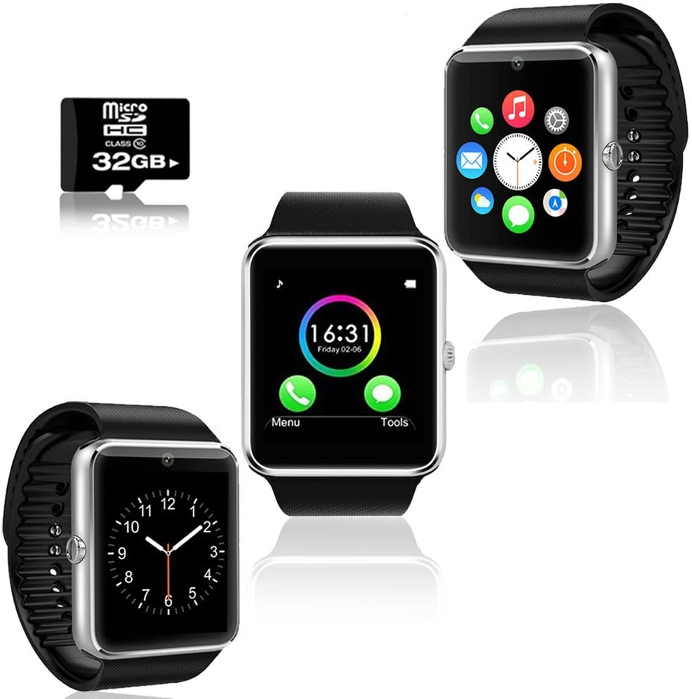 Smart Watch & Phone w/ Pedometer + Sleep Tracker + Free 32GB Sdcard