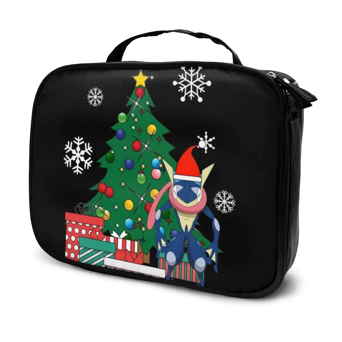Makeup Bag Cosmetic Pouch Greninja Monster Of The Pocket Around The Christmas Tree Multi-Functional Bag Travel Kit