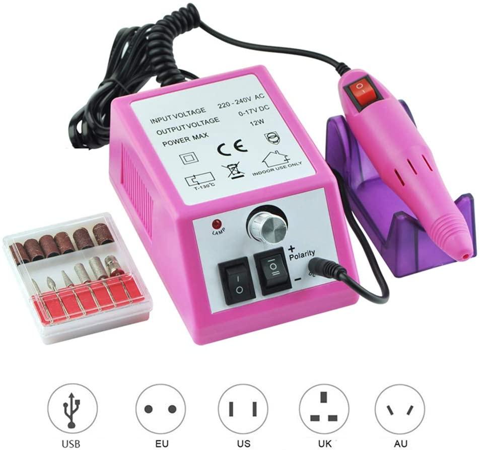 ZNXY 20,000 RPM Light Type Professional Electric Nail Art Salon Drill Glazing Fast Machine,Electric Nail Art File Drill