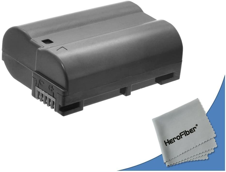 HeroFiber High Capacity Replacement Nikon EN-EL15 Battery for Nikon D610 DSLR Camera