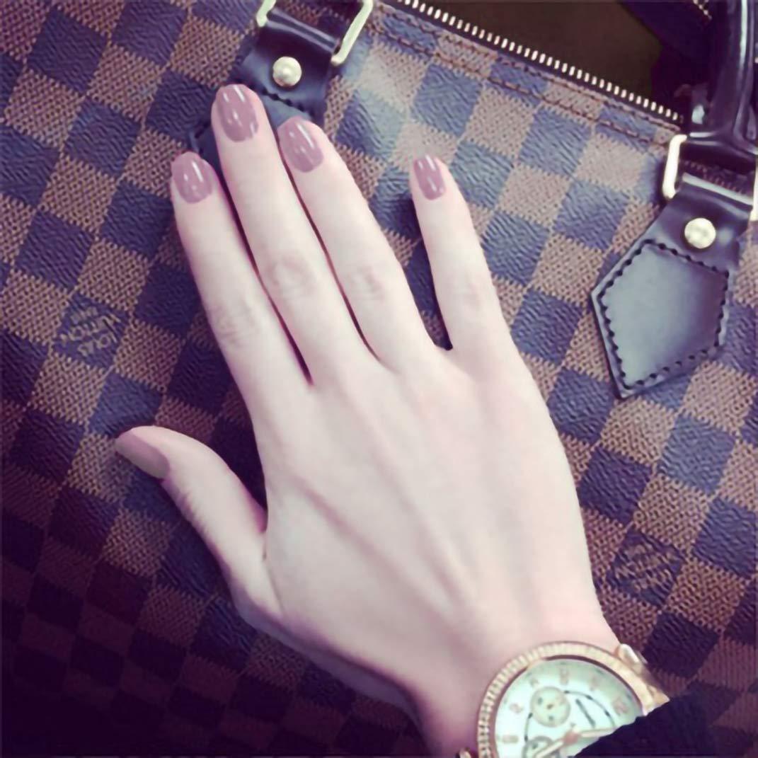 BABALAL 24PCS Square Short Acrylic Nails Full Cover Fake Nails Set Glossy False Nails for Women and Girls