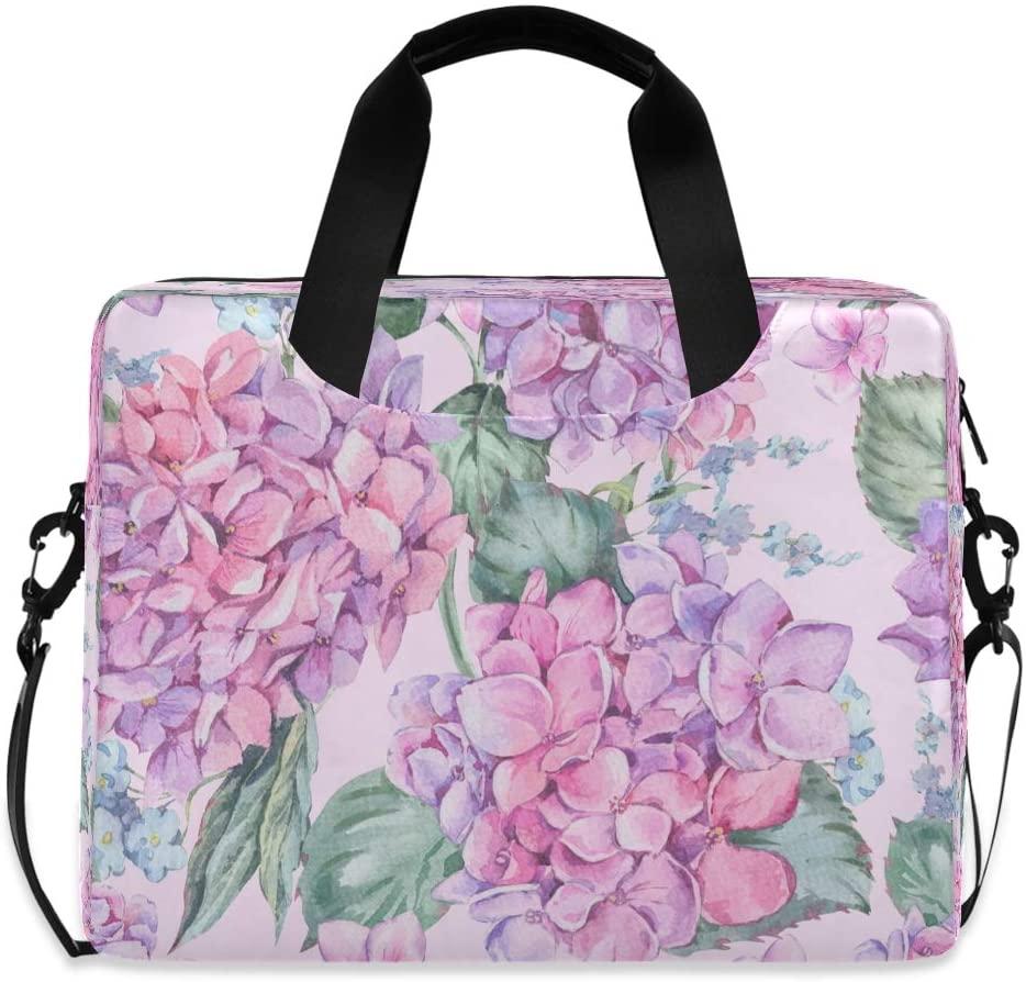 Watercolor Botanical Natural Hydrangea Pink Fashion 15.6