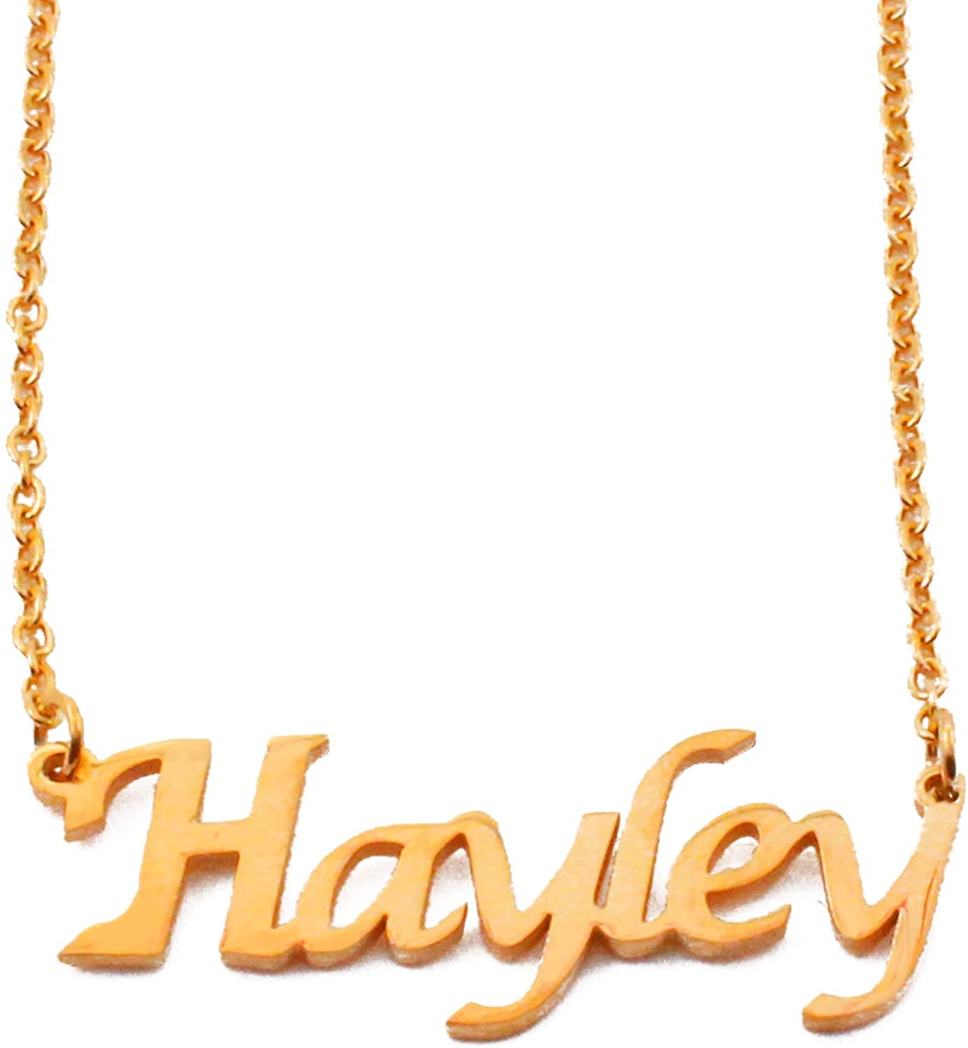 Kigu Hayley Custom Name Necklace Personalized - 18ct Gold Plated