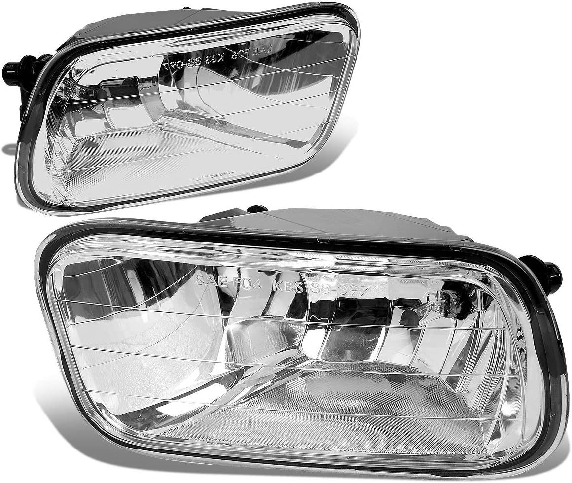 Replacement for Dodge Ram DS/DJ Pair of Bumper Driving Fog Lights (Clear Lens)