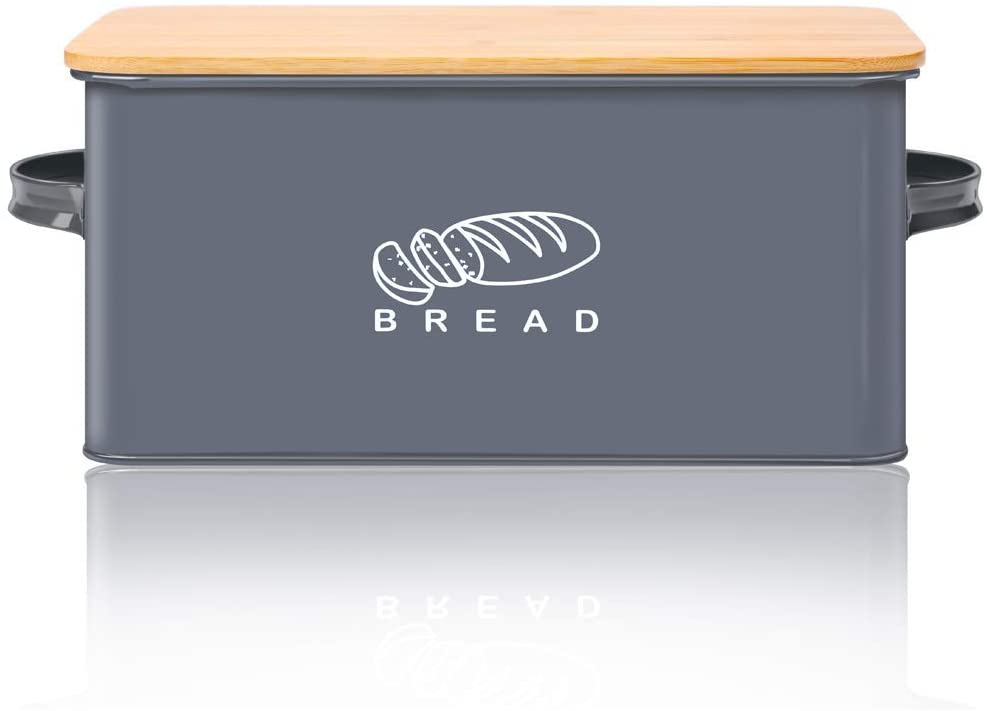 Bread Box for Kitchen, GA Homefavor Bread Bin, Bread Holder with Bamboo Lid, 11.56