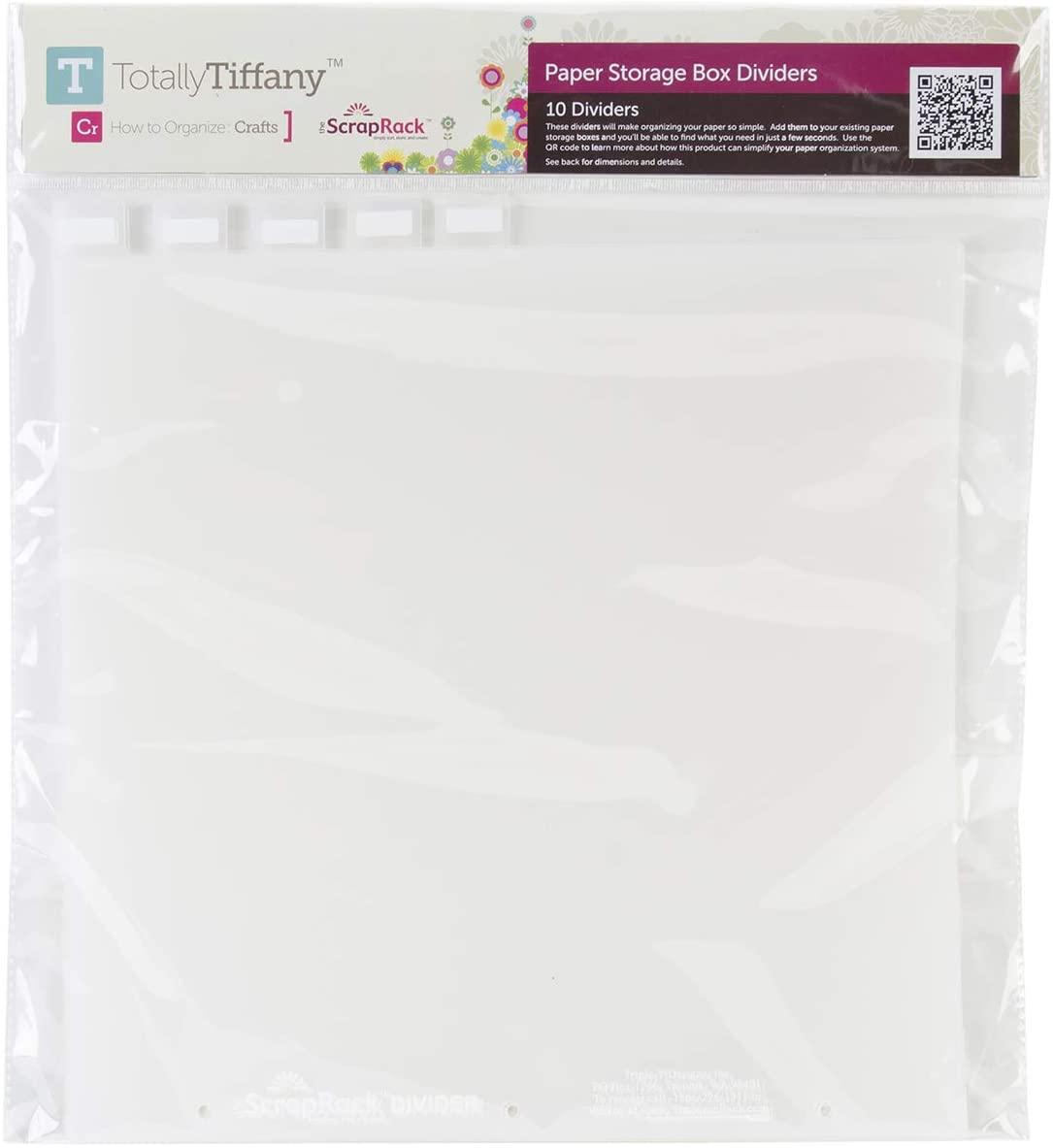 Totally Tiffany Paper Storage Box Divider 10pc